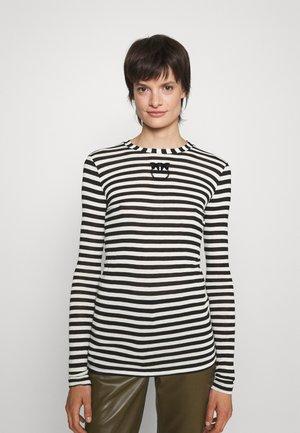 BELL VILLE MAGLIA - T-shirt à manches longues - black/white