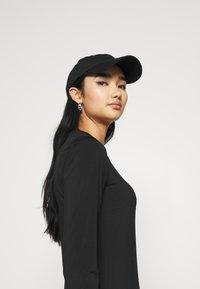 Even&Odd - Mini high neck long sleeves bodycon dress - Shift dress - black - 3