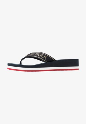 RIRI  - T-bar sandals - red/white/blue