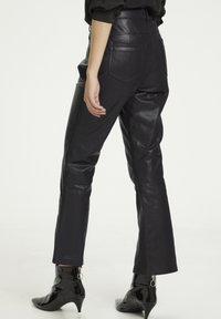 Denim Hunter - HUNTER DHTWIGGY  - Leather trousers - black - 1
