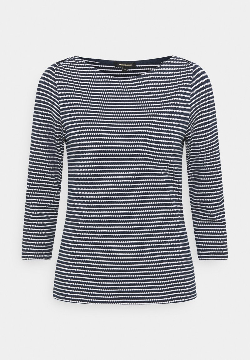 More & More - STRIPED SHIRT - Long sleeved top - marine multicolor