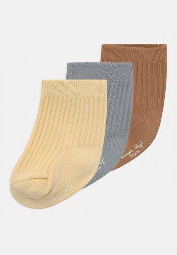 3 PACK UNISEX - Socks - bisquit/quarry blue/lemon sorbet