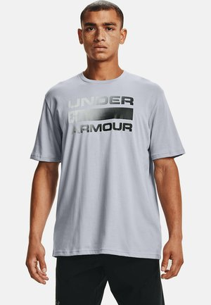 UA TEAM ISSUE WORDMARK  - Print T-shirt - mod gray