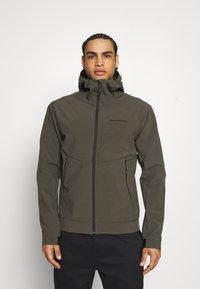 Peak Performance - ADVENTURE HOOD JACKET - Winter jacket - black/olive - 0