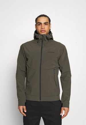 ADVENTURE HOOD JACKET - Winter jacket - black/olive