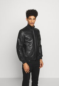 Emporio Armani - CABAN PELLE - Leather jacket - nero - 2