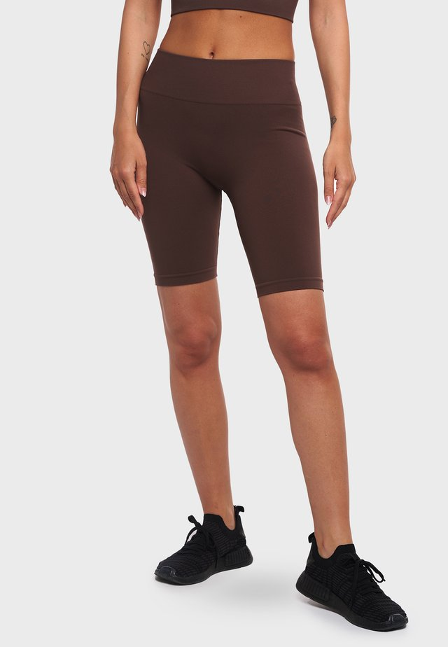 LEN ONE BLOCK - Pantaloncini 3/4 - chestnut