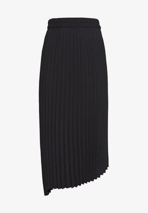 YAN PLISSE SKIRT - A-linjekjol - black