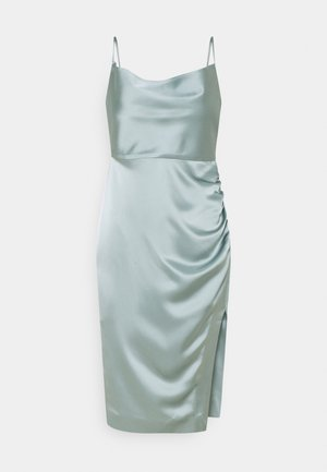 LAURA RUCHED DRESS - Cocktail dress / Party dress - sage