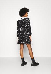 New Look - SADIE STAR COLLAR WAIS - Day dress - black - 2