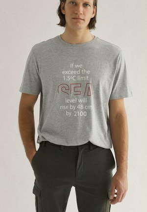 T-shirt print - gris