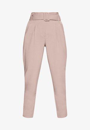 ONLSICA PAPERBAG PANTS - Pantalones - burlwood