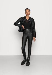 Vila - Faux leather jacket - black - 1