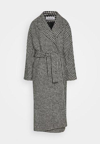 CASSIDY COAT - Classic coat - black/white