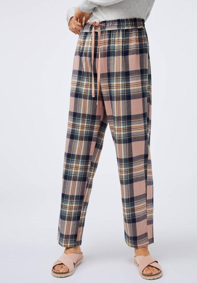 MIT ROSAFARBENEM KAROPRINT - Nattøj bukser - rose