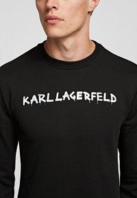 KARL LAGERFELD - GRAFFITI - Sweatshirt - black - 3