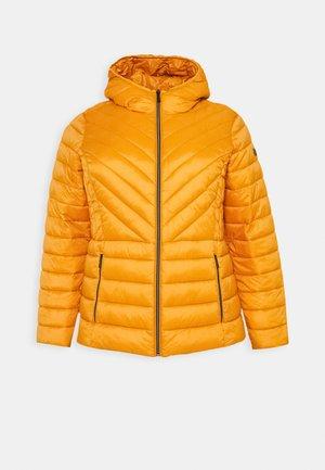 ZIP FRONT PACKABLE WHOOD - Light jacket - marigold