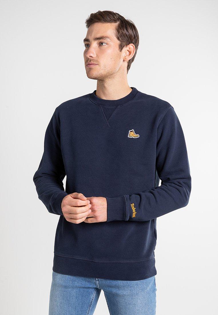Timberland - BOOT LOGO CREW NECK - Sweatshirt - dark sapphire