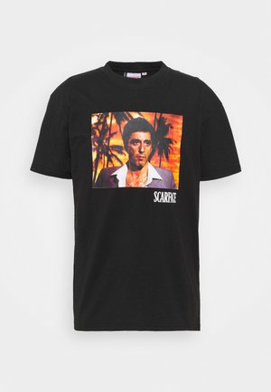 SCARFACE PALM PHOTO TEE - Print T-shirt - black