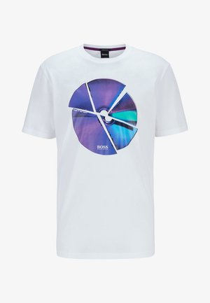 TIRIS - T-shirt med print - natural