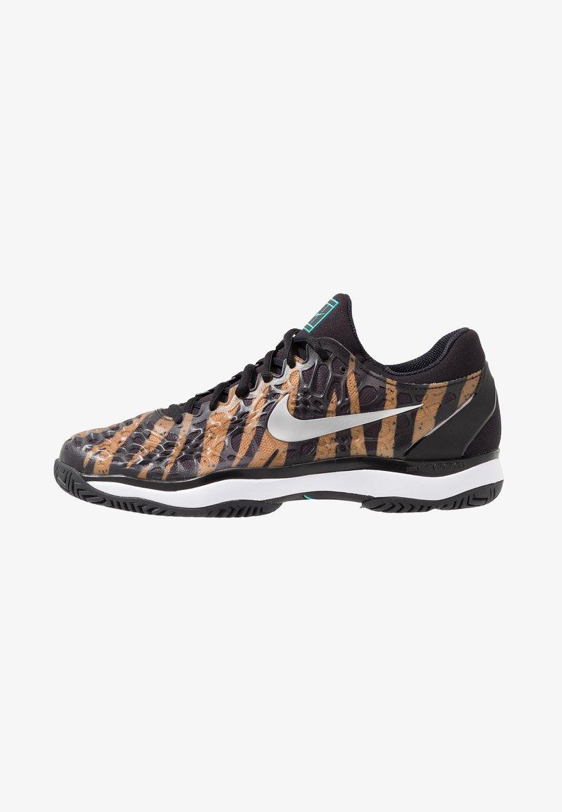 Nike Performance - AIR ZOOM CAGE - Clay court tennis shoes - wheat/metallic silver/hyper jade/desert ore/black/white