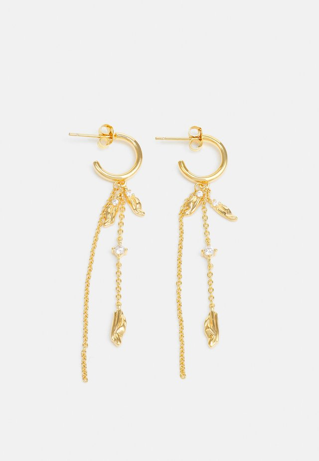 VULCANELLO DOUBLE CHAIN EARRINGS - Boucles d'oreilles - gelbgold-coloured