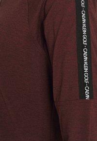 Calvin Klein Golf - KAHN ZIP NECK - Top sdlouhým rukávem - blackberry - 6