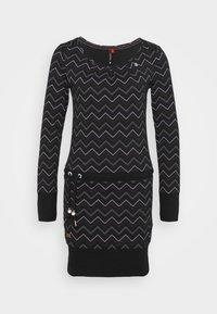 Ragwear - ALEXA ZIG ZAG - Denní šaty - black - 4