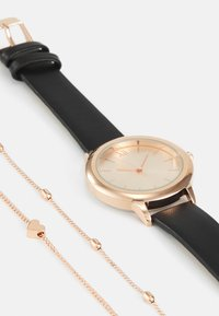 Even&Odd - SET - Watch - black/rose gold-coloured