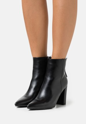 NETHRA - High heeled ankle boots - black