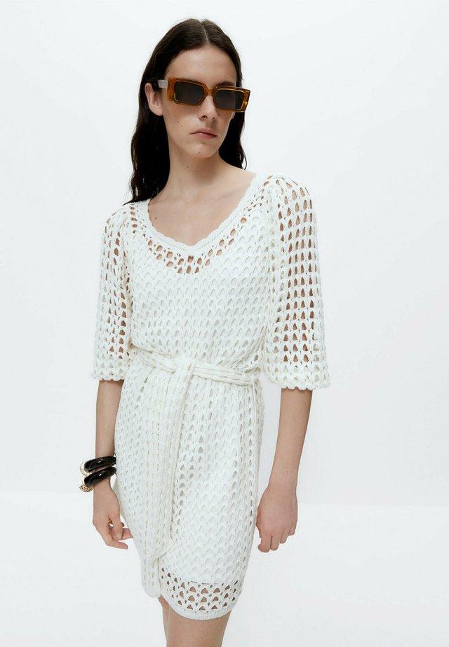 Gebreide jurk - beige