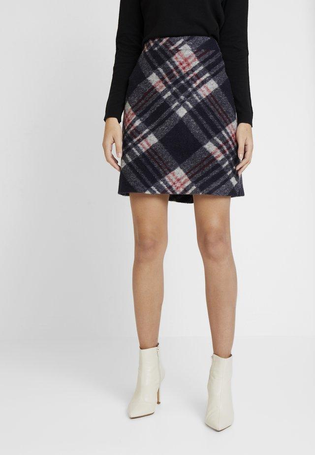 KURZ - A-snit nederdel/ A-formede nederdele - navy