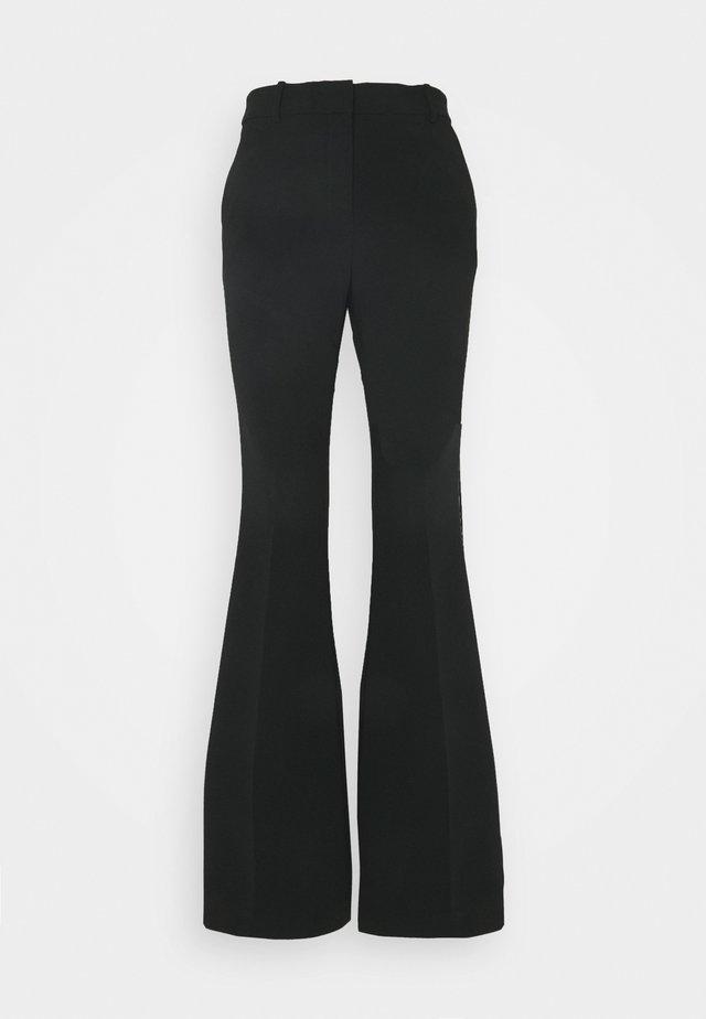 FLARE PANT - Bukse - black