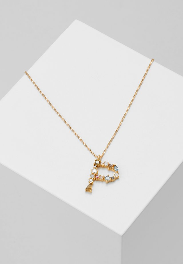 LETTER NECKLACE - Collar - gold