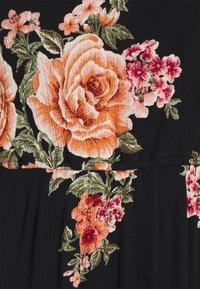 ONLY Petite - ONLKARMEN DRESS  - Vestido informal - black/orange - 2