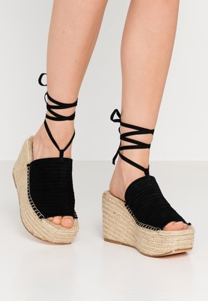 WEEKEND WEDGE - High Heel Sandalette - black