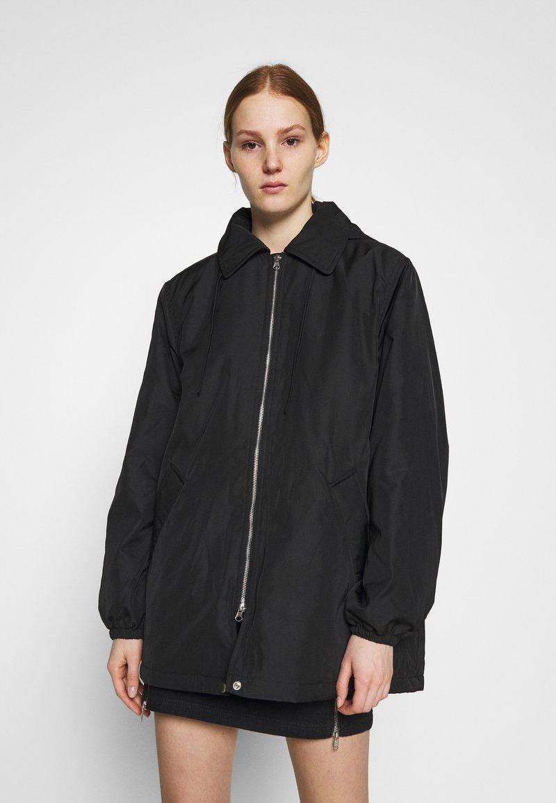 Weekday - BYRON COACH JACKET - Short coat - black