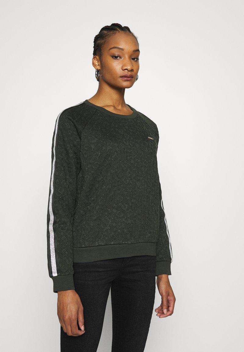 Liu Jo Jeans - FELPA CHIUSA - Sweatshirt - laurel green