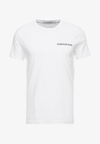 SMALL INSTIT LOGO CHEST TEE - T-shirt - bas - white