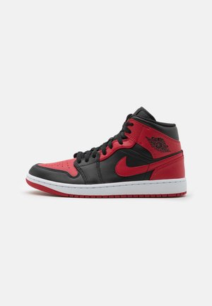 AIR JORDAN 1 MID - Korkeavartiset tennarit - red temporary