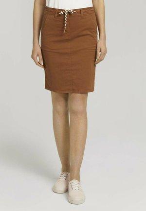 Pencil skirt - caramel brown