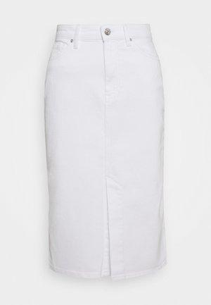 PENCIL SKIRT - Spódnica ołówkowa  - white