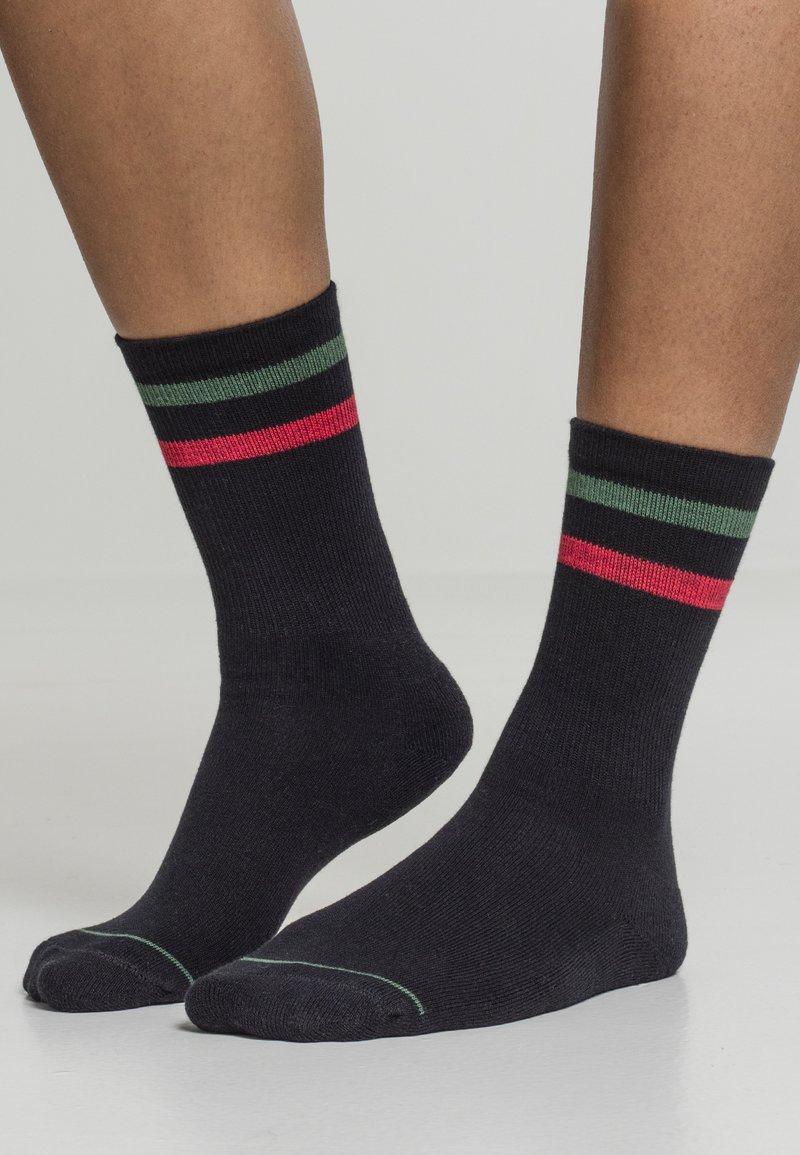 Urban Classics - 2 PACK - Socks - black green red