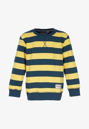 Sweatshirt - petrol-yellow
