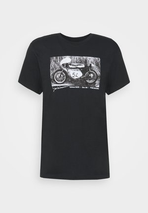 YOSHIMURA RACER PROFILE TEE - Camiseta estampada - black