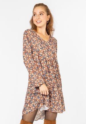 A-LINIEN KLEID MIT BLUMENPRINT - Day dress - middle-brown