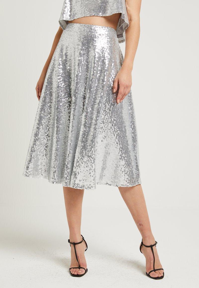 NA-KD - ZALANDO X NA-KD - A-snit nederdel/ A-formede nederdele - silver