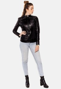 LEATHER HYPE - ARYAN - Leather jacket - black - 3