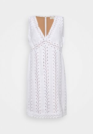 STRIPED ROPE MINI DRESS - Day dress - white