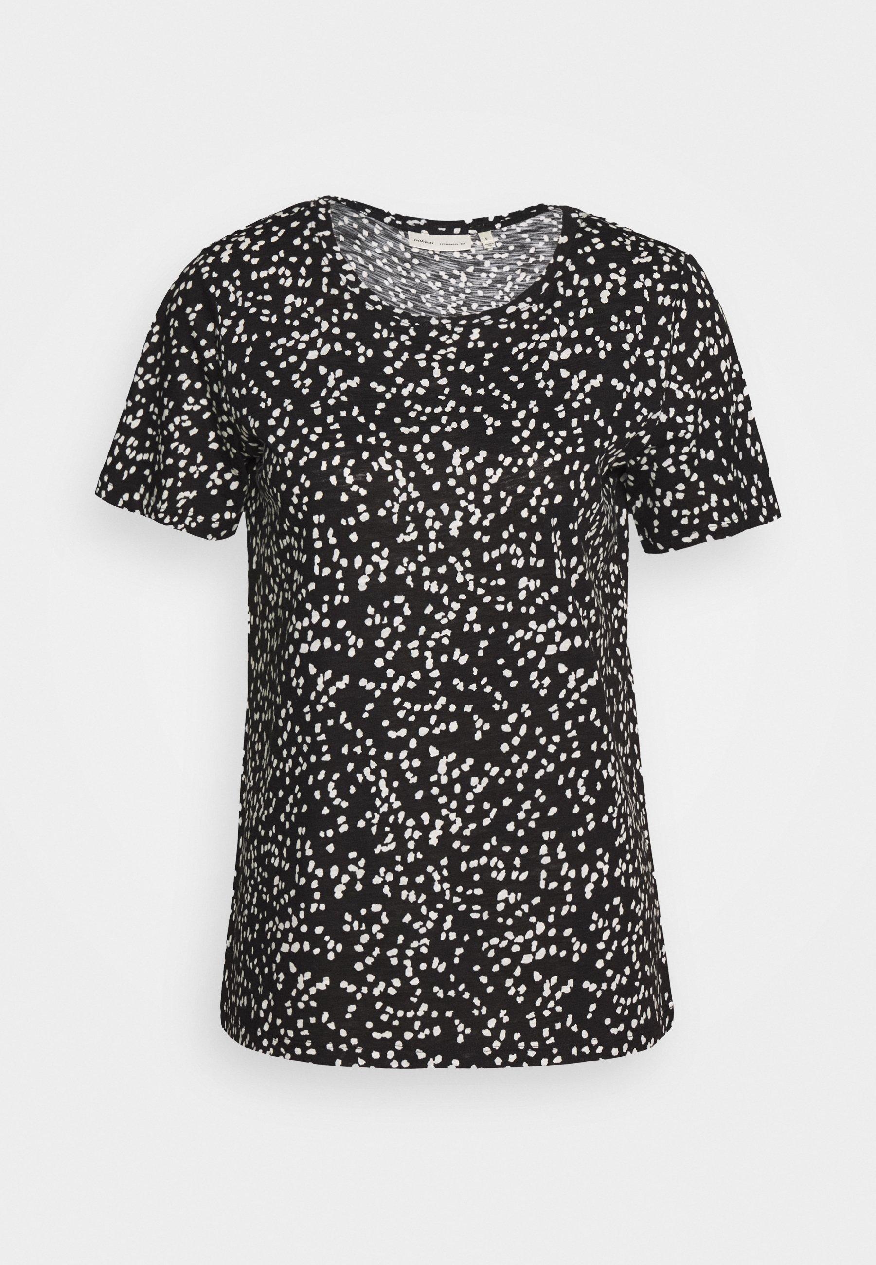 Inwear Alma - T-shirts Med Print Black/svart